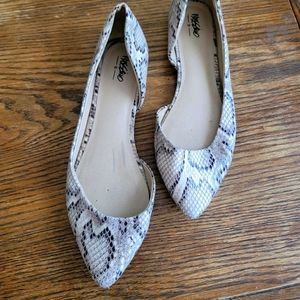 MOSSIMO D'Orsay Snake Print Flats Size 9.5